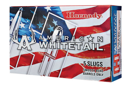 Hornady 12 GA 2-3/4 inch 1 oz Rifled Slug American Whitetail 5/Box