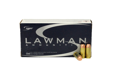 Speer 40SW 180 gr TMJ Lawman Trade Ammo 50/Box