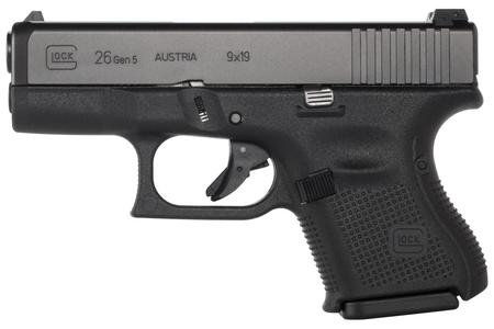 26 GEN5 9MM WITH FIXED SIGHTS