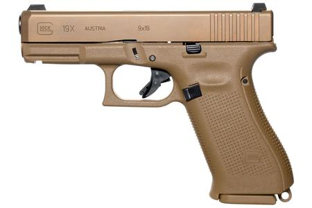 Glock 19x 9mm Full-Size FDE Pistol with 17 Round Magazine (LE)