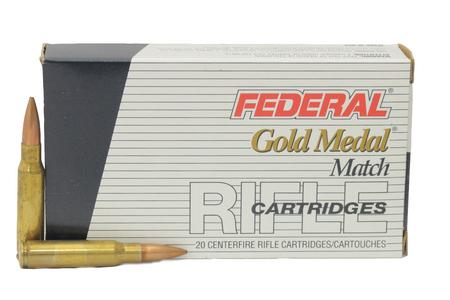 FEDERAL AMMUNITION 308 Win 168gr Sierra MatchKing BTHP Trade Ammo 20/Box