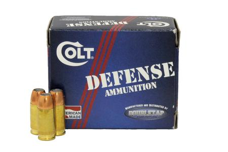 Colt 380 ACP 90 gr Jacked Hollow Point Defense Ammunition 20/Box