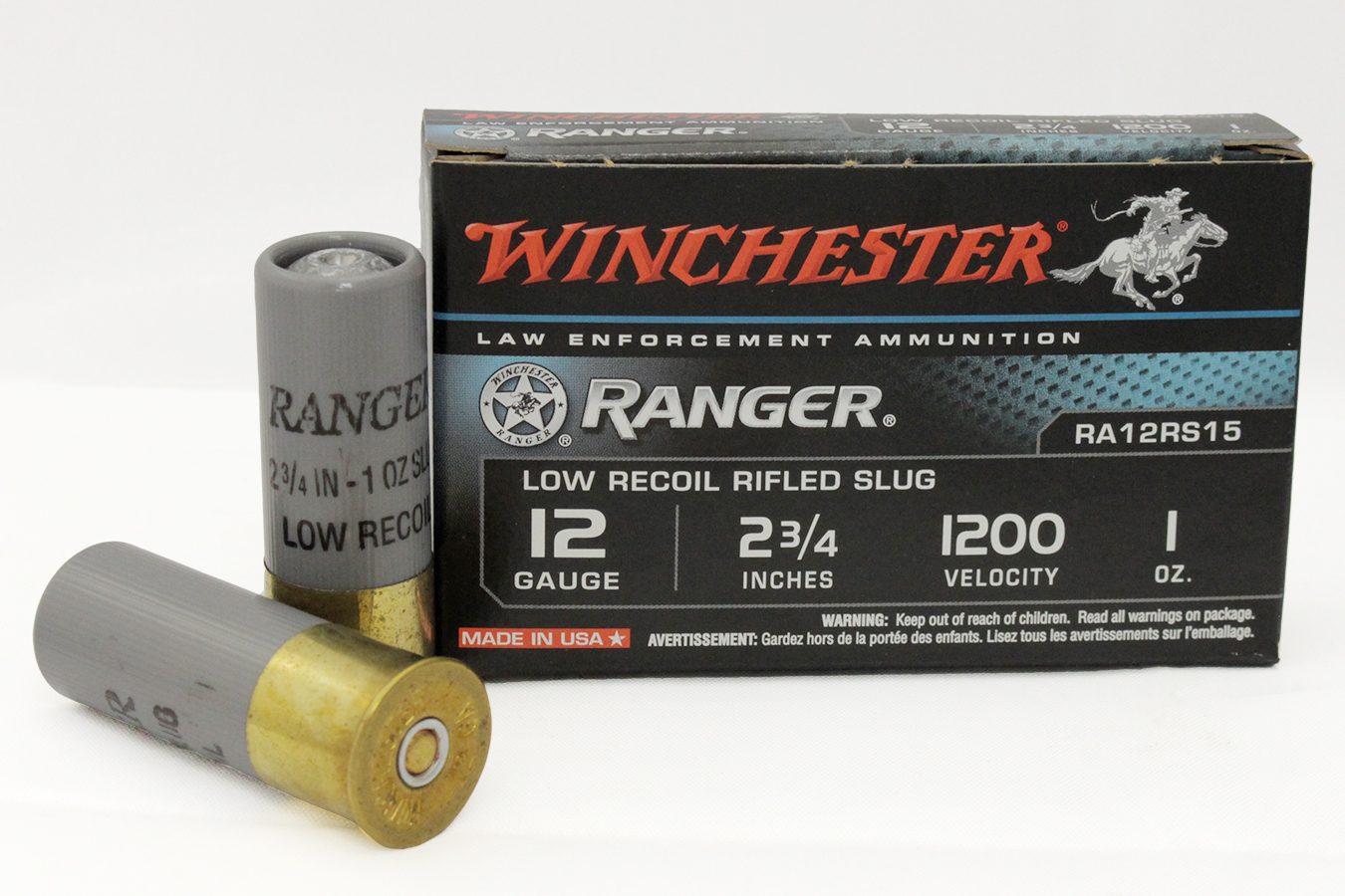 12 GAUGE 2 3/4 IN 1OZ RANGER TRADE AMMO