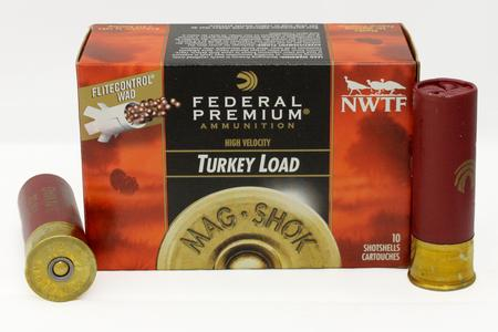 FEDERAL AMMUNITION 12 GA 3 in 1 3/4 oz 5 Shot Mag-Shok Turkey 10/Box