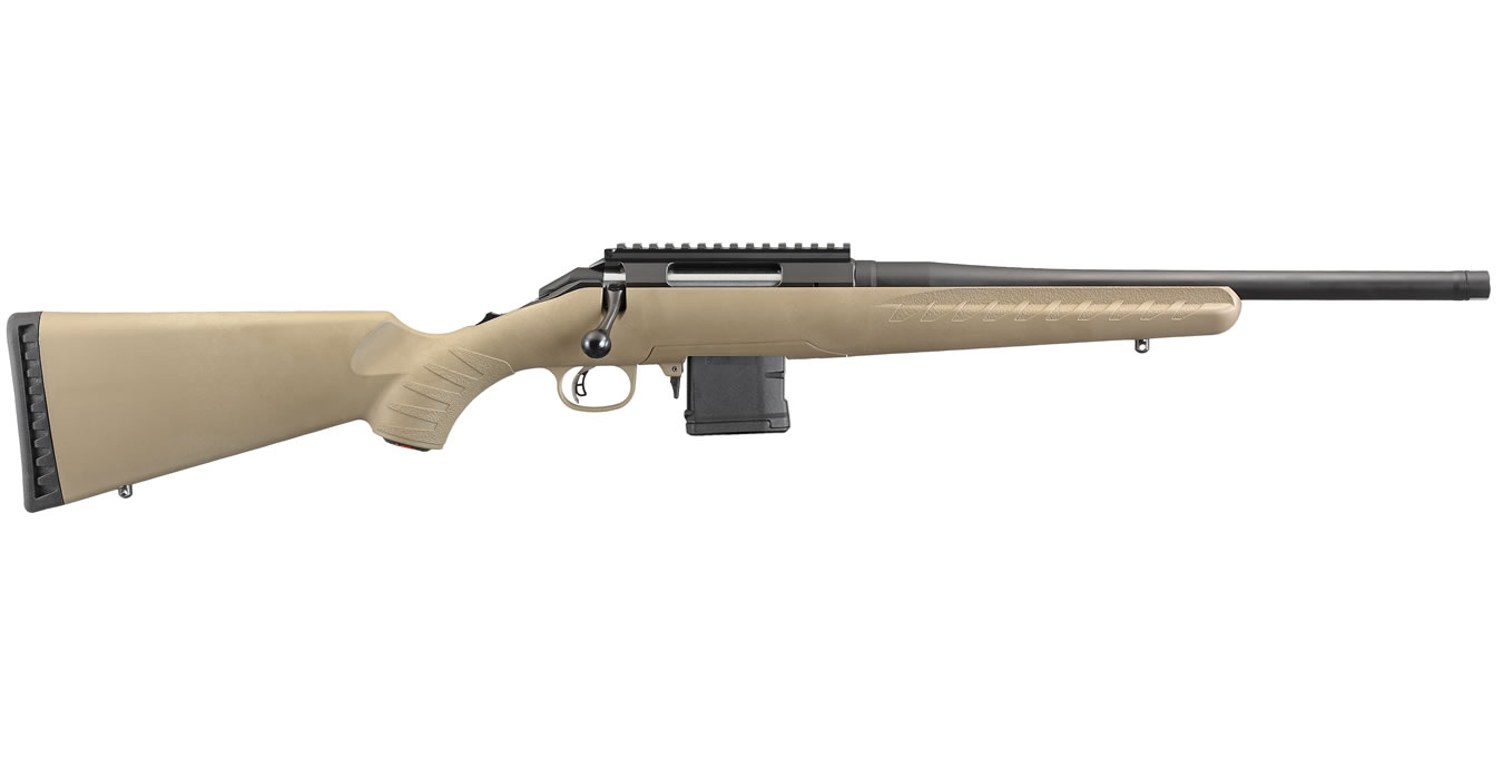ruger american ranch 300 blackout fde bolt action rifle with 10
