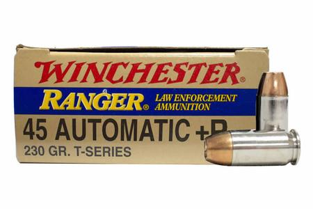 Winchester 45 ACP +P 230 gr JHP Ranger T-Series Police Trade Ammo 500/Case