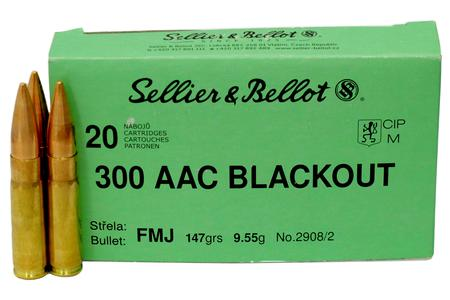 Sellier And Bellot 300 AAC Blackout 147 gr Full Metal Jacket 20/Box
