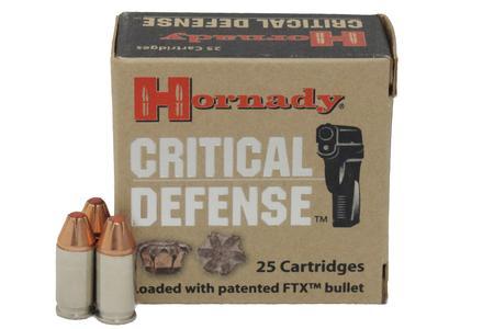 Hornady 380 Auto 90 gr Critical Defense FTX Trade Ammo 25/Box