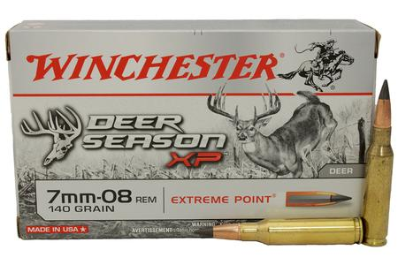 Winchester 7mm-08 REM 140 gr Extreme Point Poly Tip Deer Season XP 20/Box