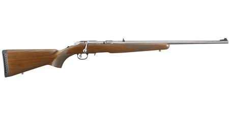 AMERICAN RIMFIRE 22 WMR WITH WOOD STOCK
