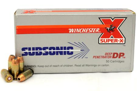 Winchester 40SW 180 gr JHP Subsonic Super-X Trade Ammunition 50/Box