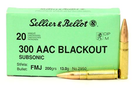 Sellier And Bellot 300 AAC Blackout 200 gr Subsonic FMJ 20/box