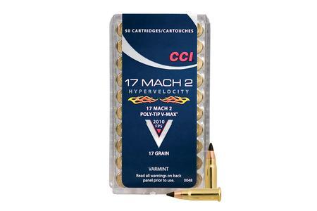 CCI AMMUNITION 17 Mach 2 17 gr Poly-Tip Hypervelocity 50/Box