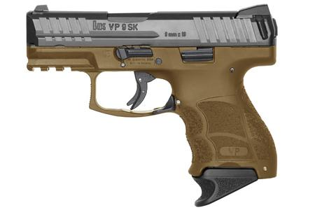 H  K VP9SK 9MM FDE STRIKER FIRED PISTOL