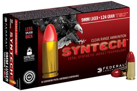 Federal 9mm Luger 124 gr Total Synthetic Jacket Syntech 50/Box