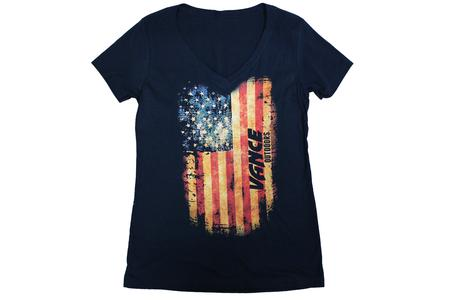 WOMENS FLAG VNECK SHIRTS
