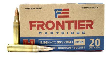 Hornady 5.56 NATO 55 gr FMJ (M193) Frontier 20/Box