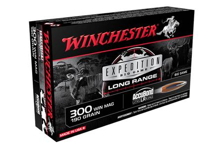 WINCHESTER AMMO 300 Win Mag 190 gr Accubond Big Game Long Range 20/Box