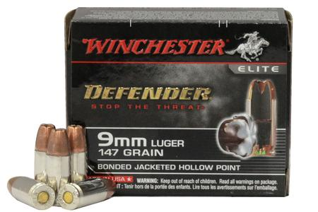Winchester 9mm 147 gr Bonded JHP PDX1 Defender Elite 20/Box
