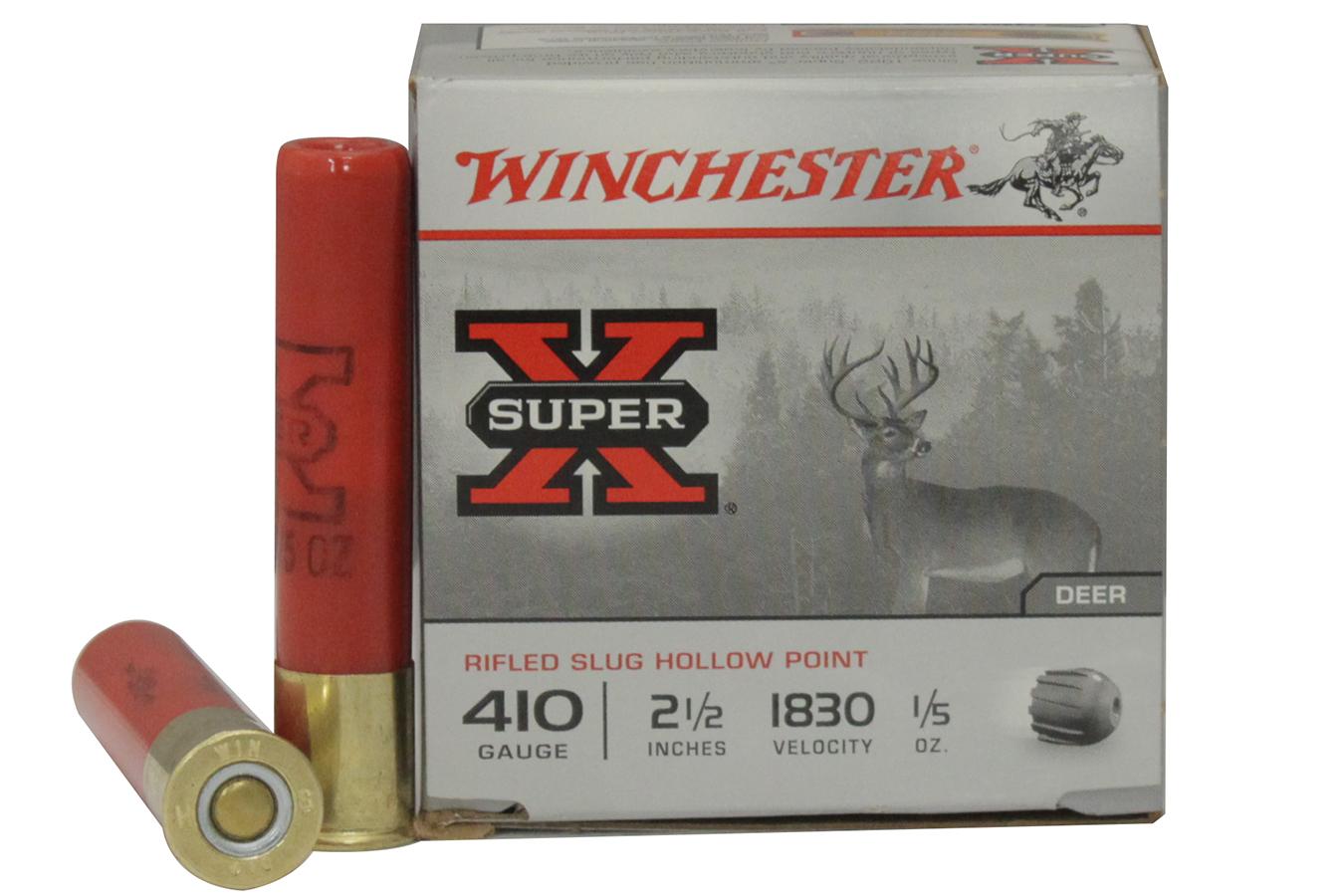 Winchester 410 Ga 2 1 2 Rifled Slug Hollow Point 15 Box