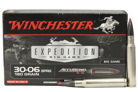 WINCHESTER AMMO 30-06 Springfield 180 gr Accubond CT Expedition Big Game 20/Box