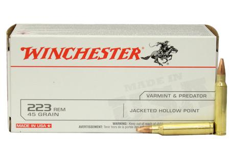 Winchester 223 Remington 45 gr JHP 40/Box