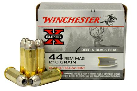 WINCHESTER AMMO 44 Magnum 210 gr Silvertip Hollow Point JHP Super X 20/Box