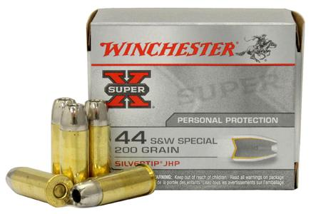 WINCHESTER AMMO 44 Special 200 gr Silvertip JHP Super X 20/Box