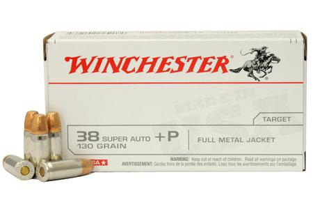 WINCHESTER AMMO 38 Super +P 130 gr Full Metal Jacket FMJ 50/Box