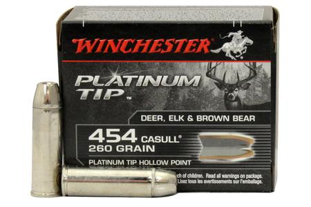 WINCHESTER AMMO 454 Casull 260 gr Platinum Tip Hollow Point 20/Box