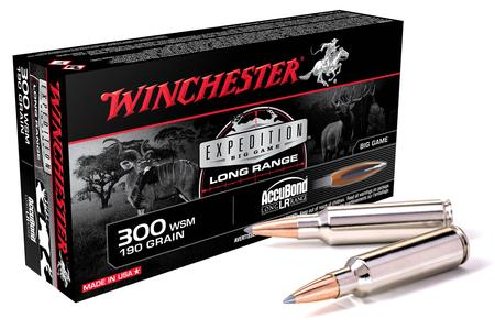 WINCHESTER AMMO 300 WSM 190 gr AccuBond LR Expedition Big Game Long Range 20/Box