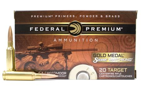 FEDERAL AMMUNITION 6.5 Creedmoor 140 gr Sierra MatchKing Gold Medal 20/Box