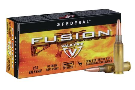FEDERAL AMMUNITION 224 Valkyrie 90 gr Soft Point Fusion MSR 20/Box