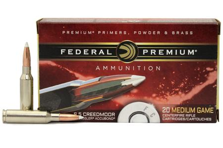 FEDERAL AMMUNITION 6.5 Creedmoor 140 gr Nosler Accubond 20/Box