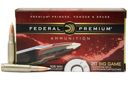 FEDERAL AMMUNITION 308 Win 165 gr Nosler Accubond 20/Box