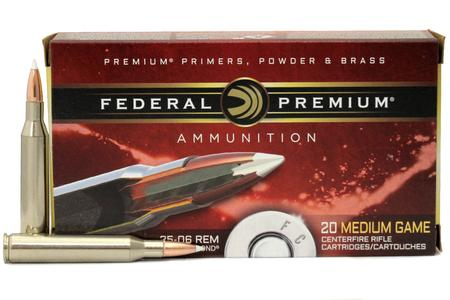 FEDERAL AMMUNITION 25-06 Rem 100 gr Nosler Accubond 20/Box