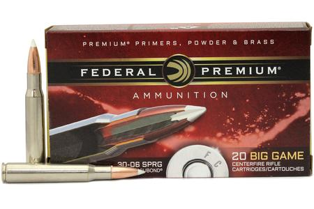 FEDERAL AMMUNITION 30-06 Springfield 165 gr Nosler Accubond 20/Box