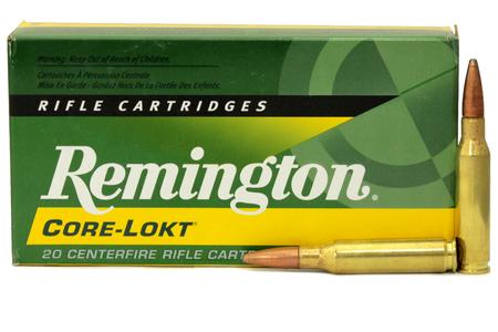 Remington 7mm-08 Remington 140 gr Core-Lokt Pointed Soft Point 20/Box