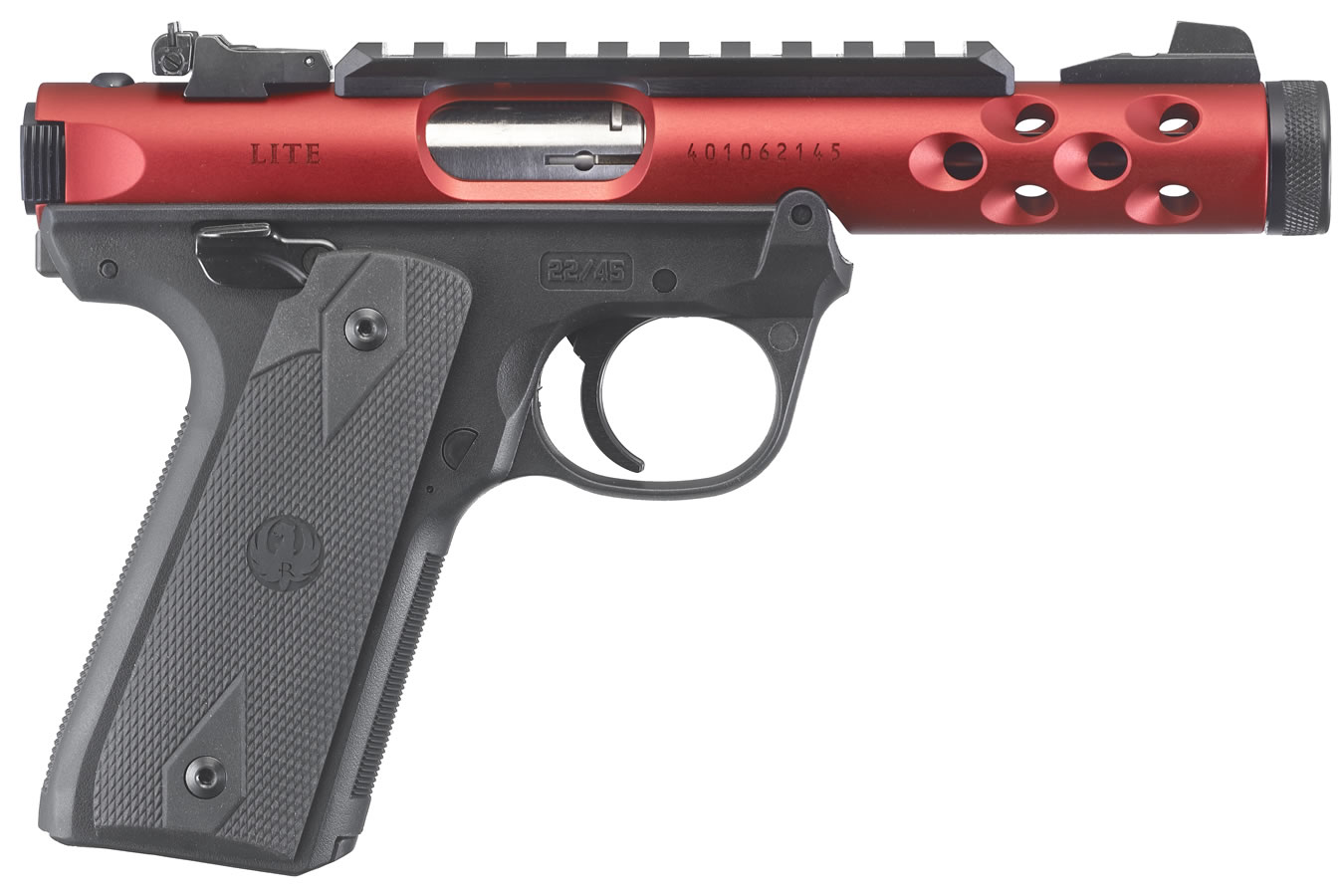 No. 16 Best Selling: RUGER MARK IV 22/45 LITE 22LR RED ANODIZED