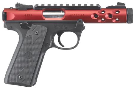 RUGER MARK IV 22/45 LITE 22LR RED ANODIZED