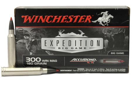 WINCHESTER AMMO 300 Win Mag 180 gr Expedition Big Game Accubond CT 20/Box