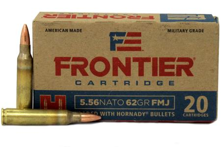 Hornady 5.56 NATO 62 gr FMJ Frontier 20/Box