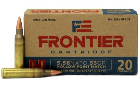 Hornady 5.56 NATO 55 gr Hollow Point Match Frontier 500 Round Case