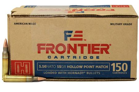 Hornady 5.56 NATO 55 gr Hollow Point (HP) Match Frontier 150/Box