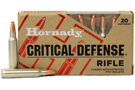 HORNADY 223 Rem 55 gr Critical Defense FTX 20/Box