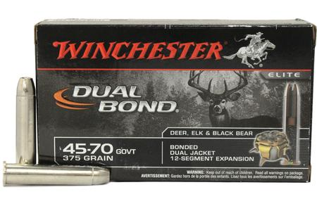 WINCHESTER AMMO 45-70 GOVT 375 gr Dual Bond Bonded Dual Jacket 20/Box