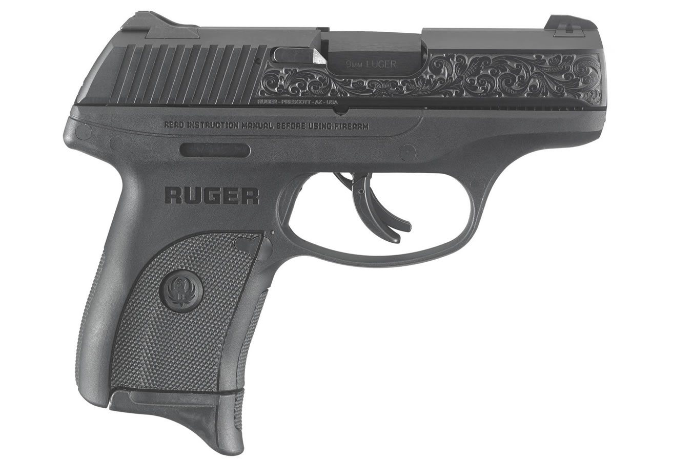 slide ruger 9mm lc9s engraved sportsman exclusive guns gun outdoor superstore firearms