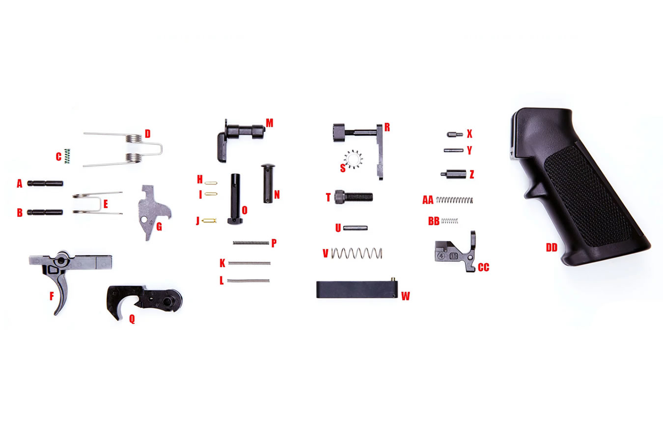 Anderson Manufacturing 5 56 223 Ar 15 Lower Parts Kit