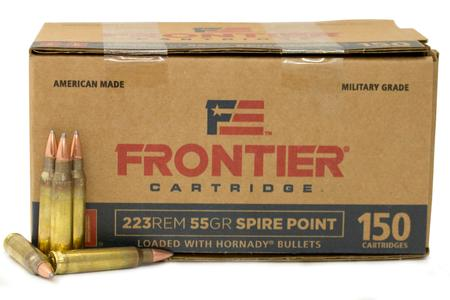 Hornady 223 Rem 55 gr Spire Point Frontier 150/Box