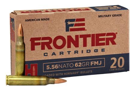 Hornady 5.56 NATO 62 gr FMJ Frontier 500/Case
